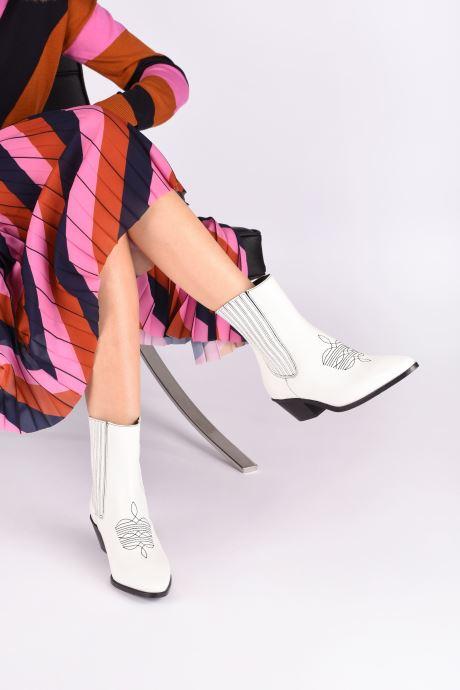 Bottines et boots Zadig & Voltaire Tyler Elastic Blanc vue bas / vue portée sac