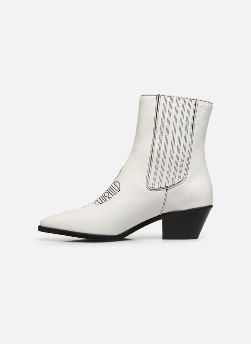 Bottines et boots Zadig & Voltaire Tyler Elastic Blanc vue face