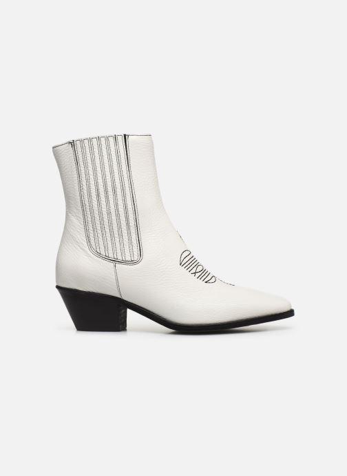 Bottines et boots Zadig & Voltaire Tyler Elastic Blanc vue derrière