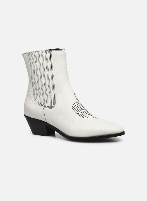 Bottines et boots Zadig & Voltaire Tyler Elastic Blanc vue détail/paire