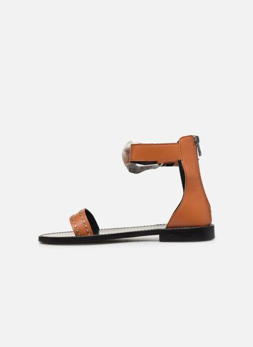 Sandali e scarpe aperte Zadig & Voltaire Ever Vegetal Marrone immagine frontale