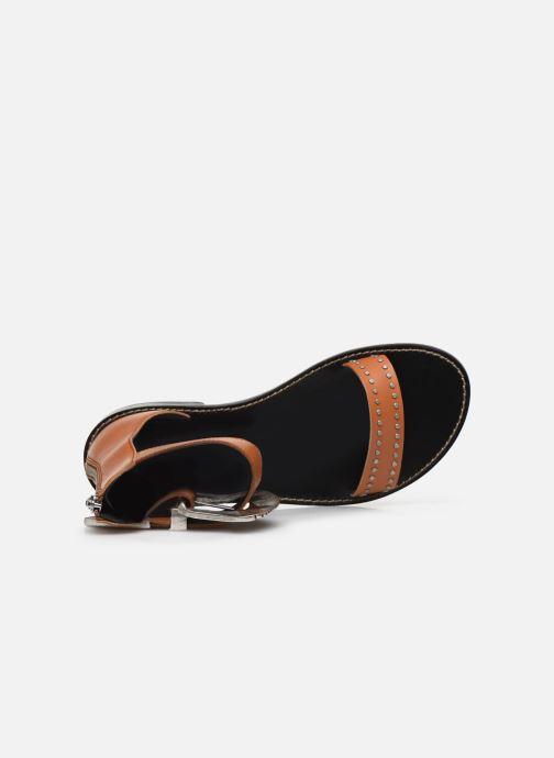 Sandali e scarpe aperte Zadig & Voltaire Ever Vegetal Marrone immagine sinistra