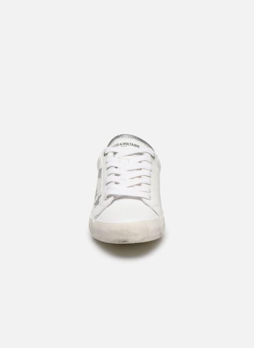 Sneakers Zadig & Voltaire Zadig Used Bianco modello indossato