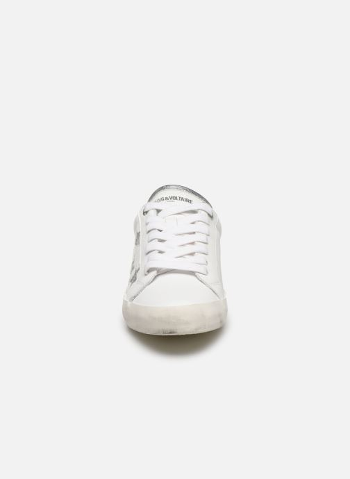 Baskets Zadig & Voltaire Zadig Used Blanc vue portées chaussures