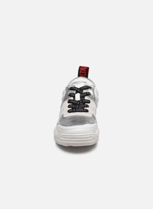Baskets Zadig & Voltaire Blaze Smooth Ca Argent vue portées chaussures