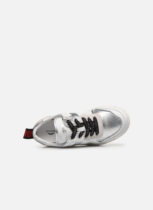 Sneakers Zadig & Voltaire Blaze Smooth Ca Argento immagine sinistra
