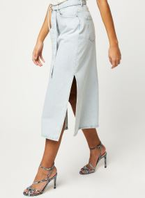 ALMA HW LONG DENIM ICE BLUE SKIRT W