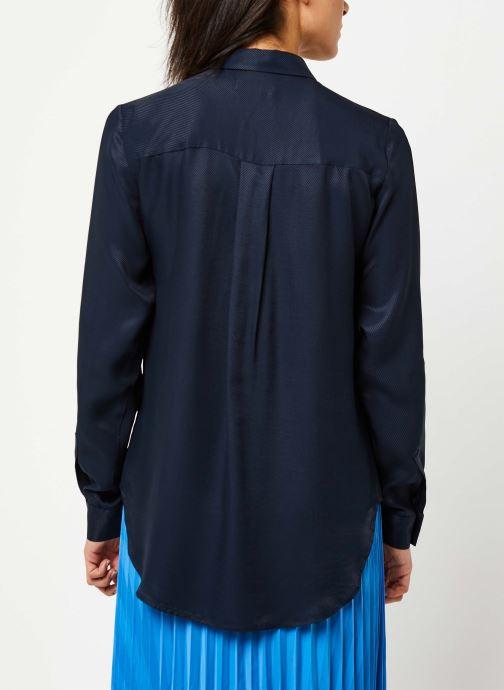 Vêtements Selected Femme ARABELLA-ODETTE LS SHIRT NOOS Bleu vue portées chaussures