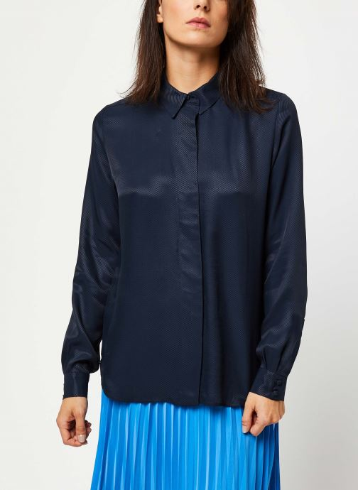 Vêtements Selected Femme ARABELLA-ODETTE LS SHIRT NOOS Bleu vue droite