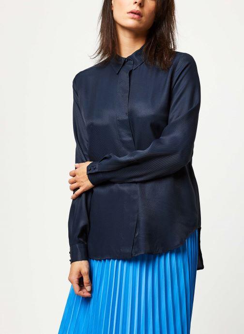 Vêtements Selected Femme ARABELLA-ODETTE LS SHIRT NOOS Bleu vue détail/paire