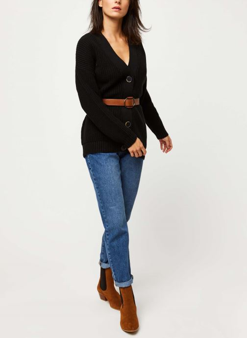Vêtements Selected Femme BAILEY LS KNIT BUTTON CARDIGAN NOOS Noir vue bas / vue portée sac