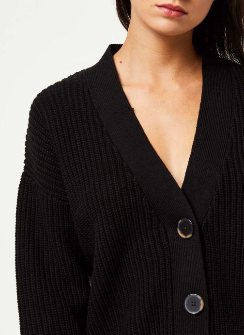 Vêtements Selected Femme BAILEY LS KNIT BUTTON CARDIGAN NOOS Noir vue face