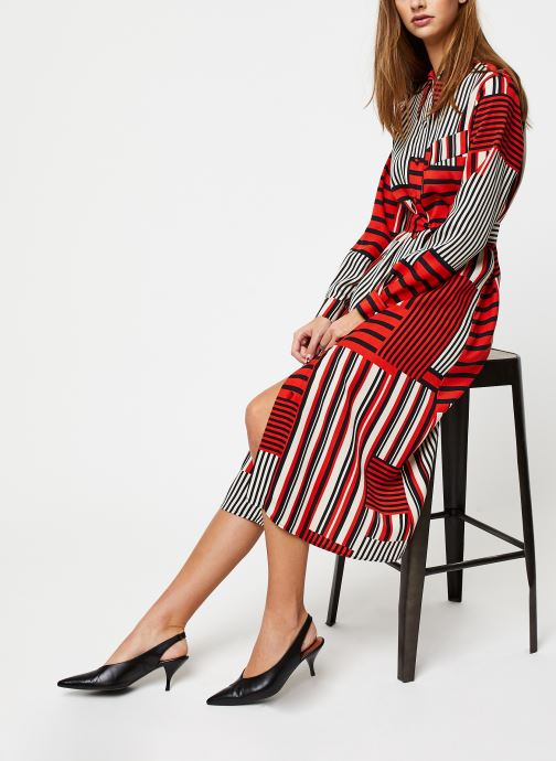 Vêtements Selected Femme MYLA-FLORENTA LS AOP MIDI DRESS B Orange vue bas / vue portée sac