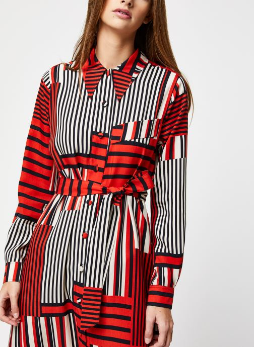 Vêtements Selected Femme MYLA-FLORENTA LS AOP MIDI DRESS B Orange vue face