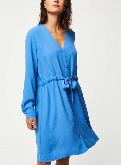 Kleding Selected Femme NANNA-DAMINA LS SHORT DRESS B Blauw detail