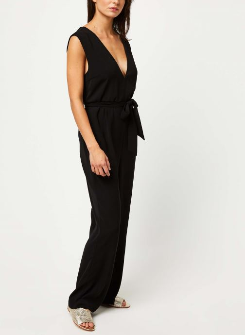 Vêtements Selected Femme THEA SL JUMPSUIT B Noir vue bas / vue portée sac