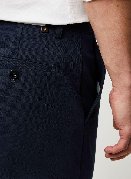 Vêtements Farah Elm Cotton Hopsack Bleu vue face