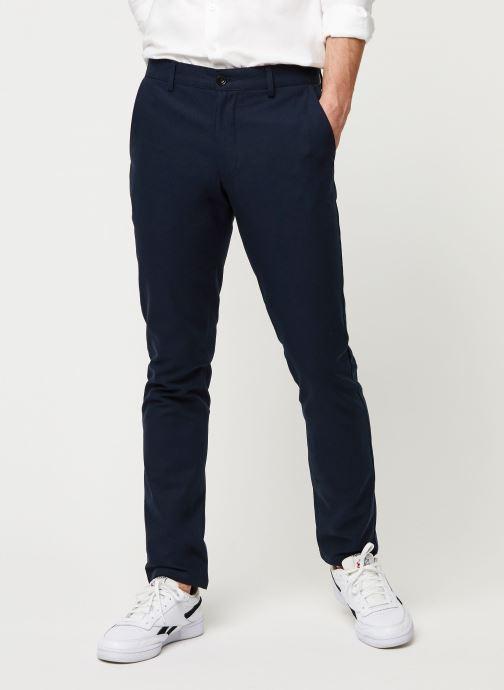Vêtements Farah Elm Cotton Hopsack Bleu vue détail/paire