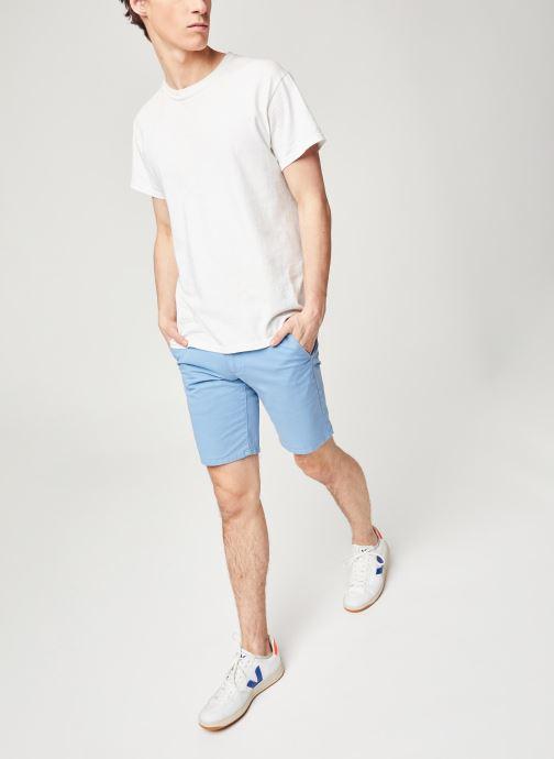 Farah Hawk Short Gmt Dye Twill (Bleu) - Vêtements (423090)