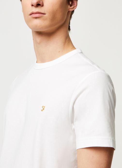 Vêtements Farah Dennis Slim Tee-Shirt Blanc vue face