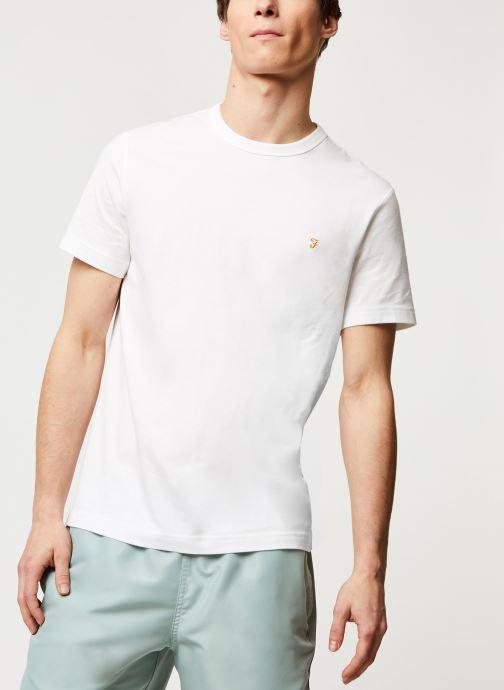 Vêtements Farah Dennis Slim Tee-Shirt Blanc vue droite