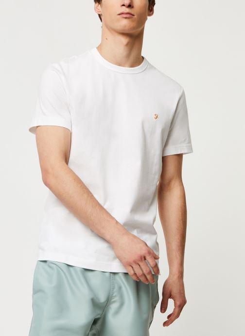 Vêtements Farah Dennis Slim Tee-Shirt Blanc vue détail/paire