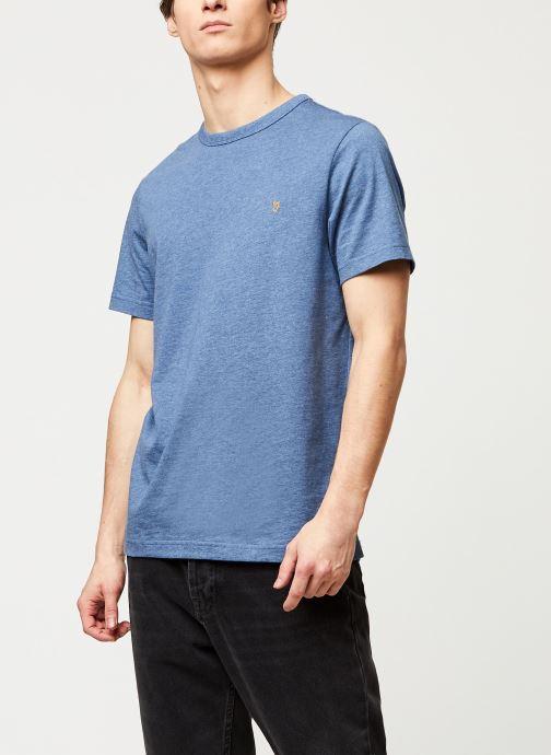 Kleding Farah Dennis Slim Tee-Shirt Blauw detail