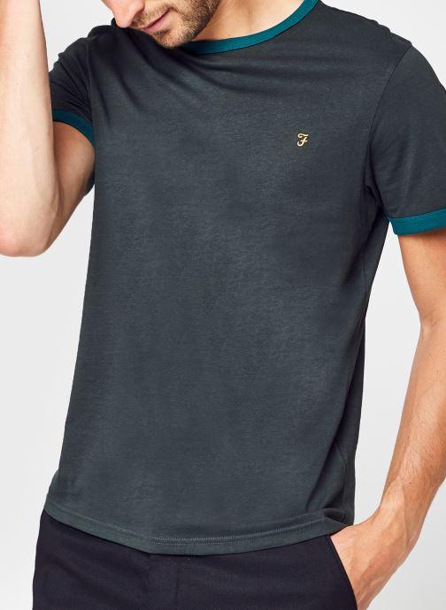Vêtements Farah Groves Ringer Tee-Shirt Vert vue détail/paire