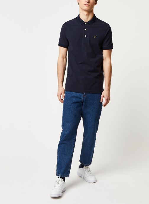 Vêtements Farah Blanes Polo Bleu vue bas / vue portée sac