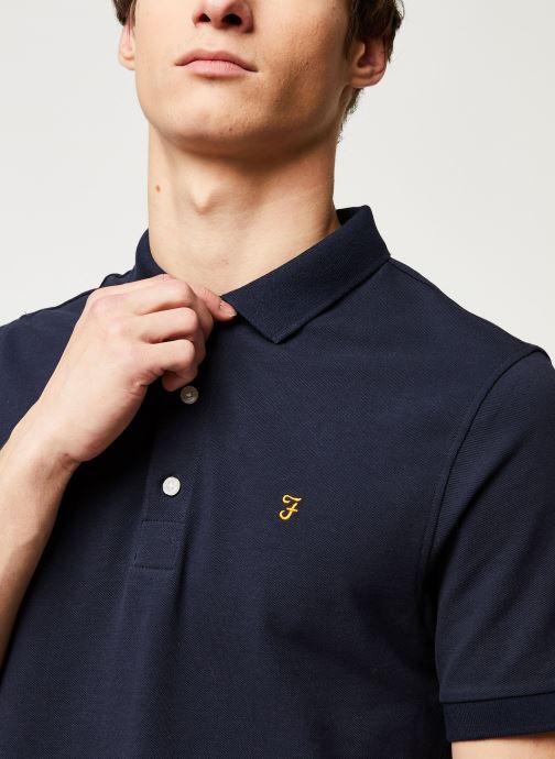 Vêtements Farah Blanes Polo Bleu vue face