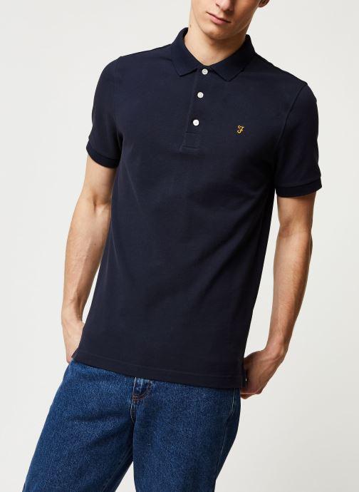 Vêtements Farah Blanes Polo Bleu vue droite