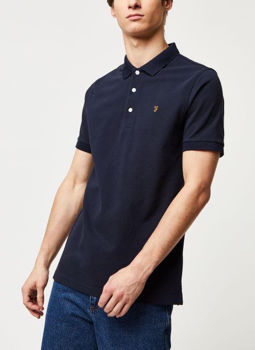 Vêtements Farah Blanes Polo Bleu vue détail/paire