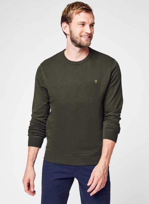 Vêtements Farah Sweatshirt  - Tim Crew Vert vue détail/paire