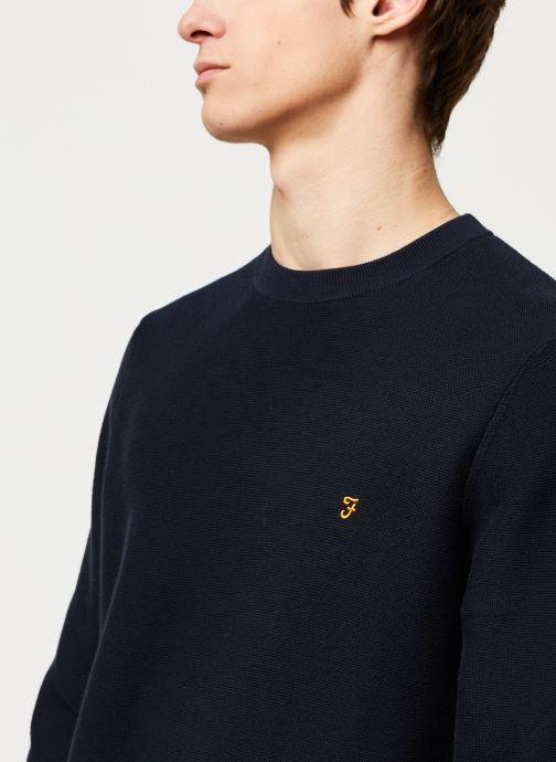 Vêtements Farah Delta Sweater Bleu vue face