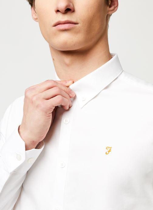 Vêtements Farah Brewer Slim Blanc vue face