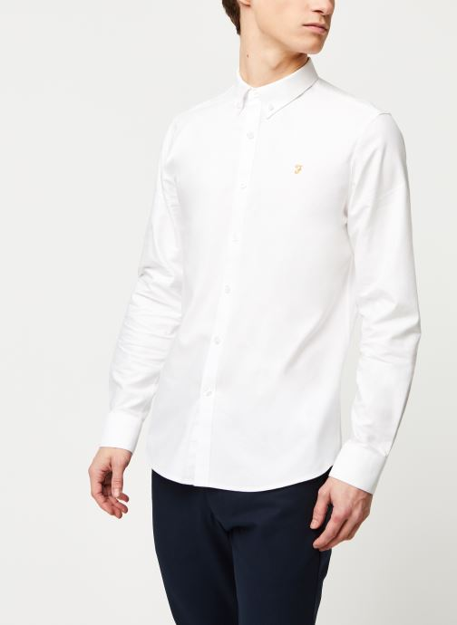 Vêtements Farah Brewer Slim Blanc vue droite