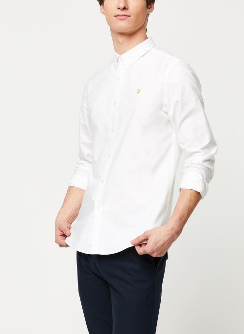 Vêtements Farah Brewer Slim Blanc vue détail/paire