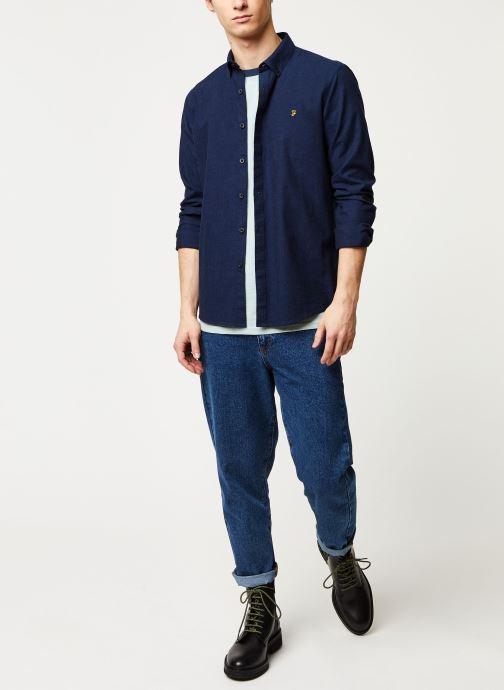 Vêtements Farah Steen Slm LS Bleu vue bas / vue portée sac