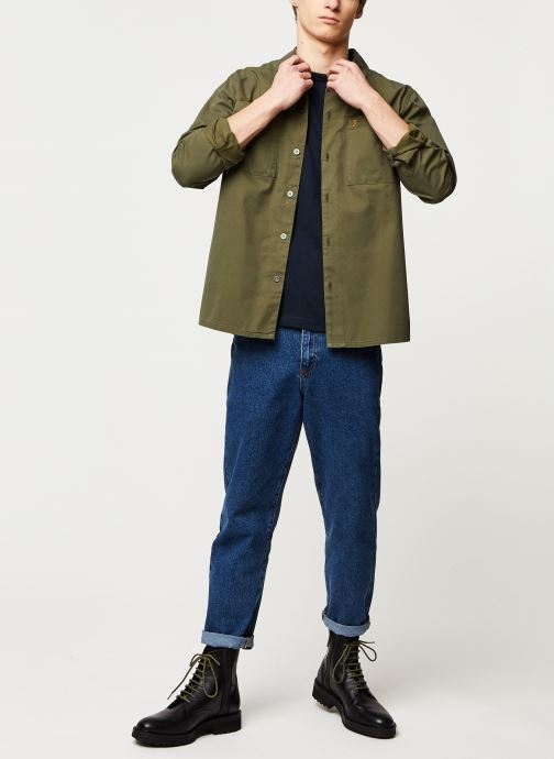 Vêtements Farah Dallam Twill Shirt Vert vue bas / vue portée sac