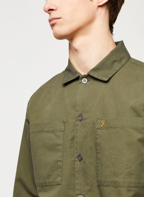 Vêtements Farah Dallam Twill Shirt Vert vue face