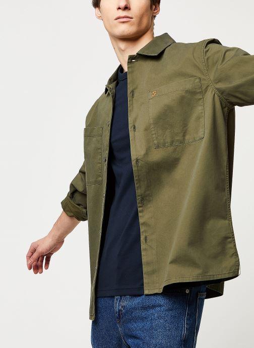 Vêtements Farah Dallam Twill Shirt Vert vue détail/paire