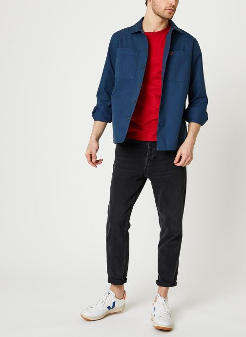 Vêtements Farah Dallam Twill Shirt Bleu vue bas / vue portée sac