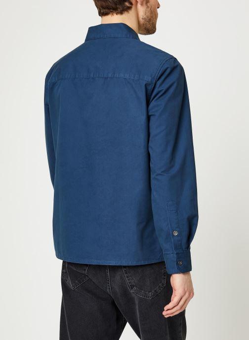 Vêtements Farah Dallam Twill Shirt Bleu vue portées chaussures