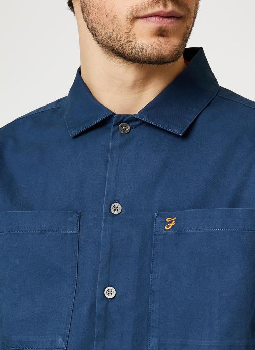 Vêtements Farah Dallam Twill Shirt Bleu vue face