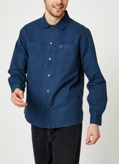 Vêtements Farah Dallam Twill Shirt Bleu vue droite