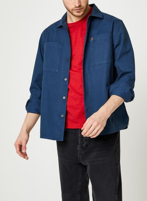 Vêtements Farah Dallam Twill Shirt Bleu vue détail/paire