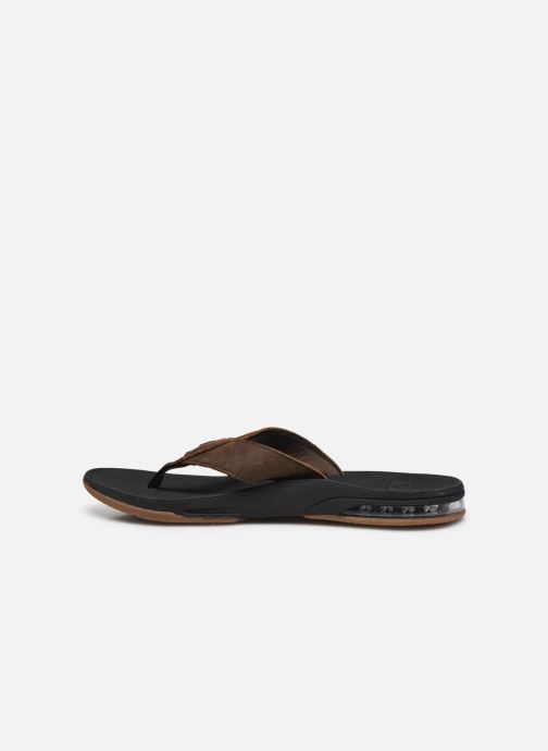 Tongs Reef Leather Fanning Low Marron vue face