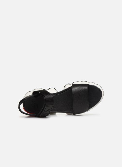 Sandales et nu-pieds Sorel Kinetic Sandal Noir vue gauche