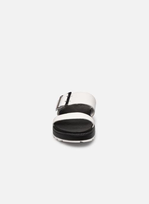 Clogs & Pantoletten Sorel Roaming Buckle Slide weiß schuhe getragen