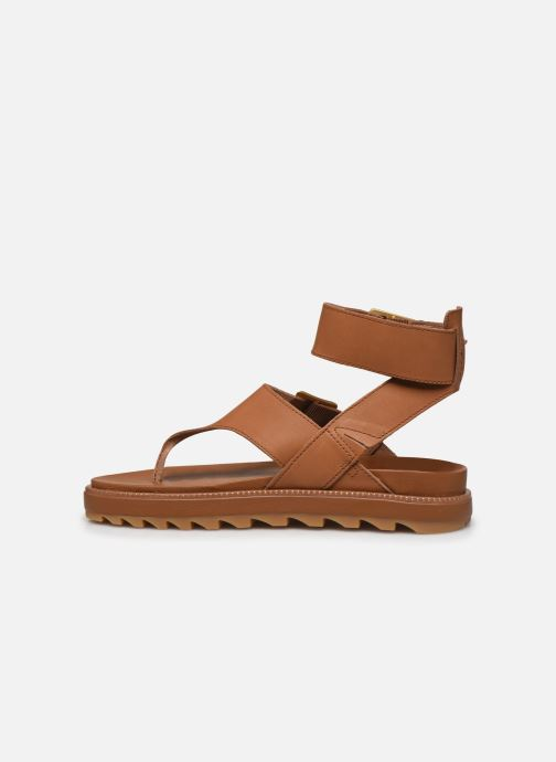 Sandales et nu-pieds Sorel Roaming T-Strap Marron vue face